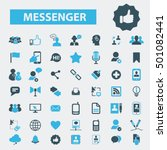 messenger icons | Shutterstock .eps vector #501082441