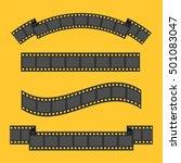 film strip frame four set.... | Shutterstock . vector #501083047