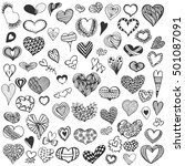 hand drawn big collection of... | Shutterstock .eps vector #501087091