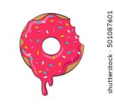 donut picture for t shirt ... | Shutterstock . vector #501087601
