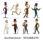 gentleman victorian business... | Shutterstock .eps vector #501088195
