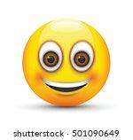 smiling emoji big realistic... | Shutterstock .eps vector #501090649