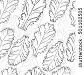 seamless pattern with lettuce....   Shutterstock .eps vector #501102505