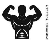 athletic man torso icon. simple ... | Shutterstock .eps vector #501112375
