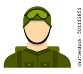 military paratrooper icon. flat ... | Shutterstock .eps vector #501113851
