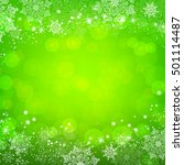 green christmas snowflakes... | Shutterstock .eps vector #501114487