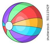 ball icon. cartoon illustration ... | Shutterstock .eps vector #501115429