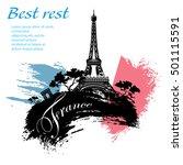 france travel grunge style... | Shutterstock .eps vector #501115591