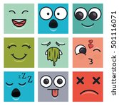 set emoticons faces | Shutterstock .eps vector #501116071