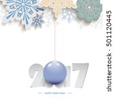 happy new year 2017 christmas... | Shutterstock .eps vector #501120445