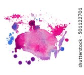 expressive abstract watercolor... | Shutterstock .eps vector #501122701