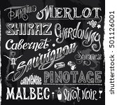 chalk drawn retro set of... | Shutterstock .eps vector #501126001