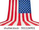 Usa Flag Hanging In Vertical...