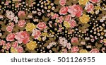 seamless floral pattern in... | Shutterstock .eps vector #501126955