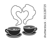 coffee icon in black style... | Shutterstock .eps vector #501128725