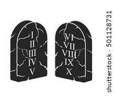 ten commandments icon in black... | Shutterstock .eps vector #501128731