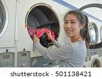 beautiful asian woman doing... | Shutterstock . vector #501138421