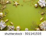 christmas decoration with gift... | Shutterstock . vector #501141535