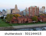 buffalo skyline at dusk in... | Shutterstock . vector #501144415