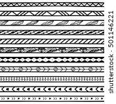 raster copy. doodle dividers ... | Shutterstock . vector #501146221