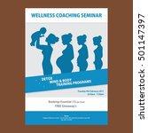 wellness flyer templates | Shutterstock .eps vector #501147397