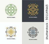 set of flourish logo design... | Shutterstock .eps vector #501149665