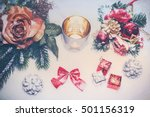 Snowy Christmas Decoration Wit...