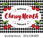 cherry month  celebrated each... | Shutterstock .eps vector #501158389