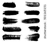 black ink vector brush strokes  ... | Shutterstock .eps vector #501165151