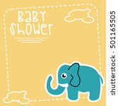 baby shower and new born card... | Shutterstock .eps vector #501165505