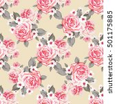 seamless floral pattern with... | Shutterstock .eps vector #501175885