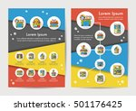 store icons set with long... | Shutterstock .eps vector #501176425