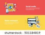 social media communication ... | Shutterstock .eps vector #501184819
