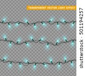 christmas lights isolated... | Shutterstock .eps vector #501194257