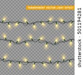 christmas lights isolated... | Shutterstock .eps vector #501194281