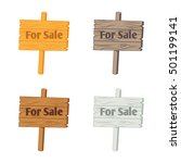Wooden Sign For Sale . Vector...