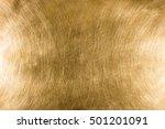 scratched industrial brass... | Shutterstock . vector #501201091