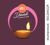 celebration of diwali with... | Shutterstock .eps vector #501204229