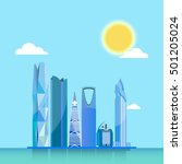 riyadh city skyline vector... | Shutterstock .eps vector #501205024
