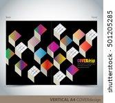 vector brochure  flyer  cover... | Shutterstock .eps vector #501205285