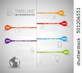 infographic timeline report... | Shutterstock .eps vector #501206551