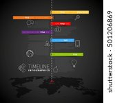 infographic timeline report... | Shutterstock .eps vector #501206869