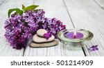 massage and spa products with...   Shutterstock . vector #501214909