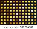 glowing neon light bulbs on...