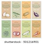 vegetable seeds packets... | Shutterstock .eps vector #501216901