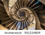 spiral staircase in tower  ... | Shutterstock . vector #501224809