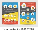 restaurant icons set with long... | Shutterstock .eps vector #501227509