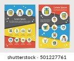 animals icons set with long... | Shutterstock .eps vector #501227761
