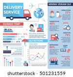 delivery service   info poster  ... | Shutterstock . vector #501231559