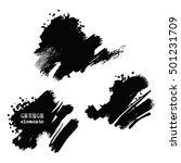 monochrome ink brush vector eps ... | Shutterstock .eps vector #501231709